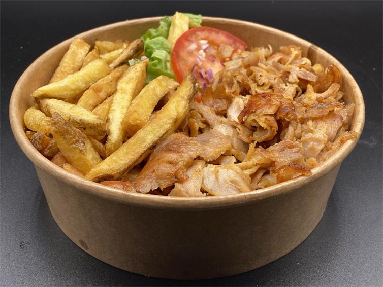 Bowl kebab avec frites maison